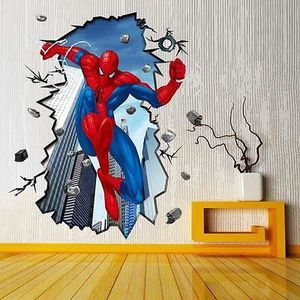 stickers spiderman achat vente stickers spiderman pas cher cdiscount. Black Bedroom Furniture Sets. Home Design Ideas