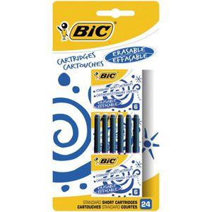Stylo - Parure BIC Cartouches d'Encre Courtes Standard pour Stylo