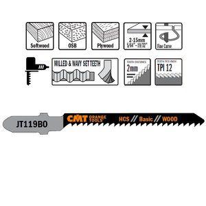 Lames de scie sauteuse T144D pour la grande vitesse coupe de bois HCS 10 Pack Compatible FESTOOL