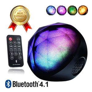 ENCEINTE NOMADE LCC® Enceinte Bluetooth avec LED Haut-Parleurs Blu