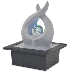 FONTAINE INTÉRIEURE Fontaine LED d'intérieur avec lampe LED Polyrésine
