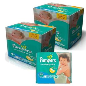COUCHE 420 Couches Pampers Active Baby Dry taille 4+