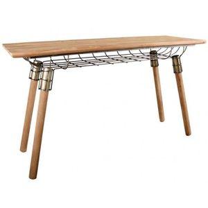 CONSOLE Console design en bois et métal - 145 x 50 x 85 cm