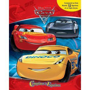 LIVRE D'ÉVEIL CARS 3 12 figurines et un tapis de jeu - Livre car