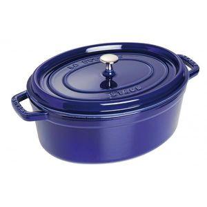 COCOTTE Cocotte en fonte émaillée ovale Staub bleu inte…