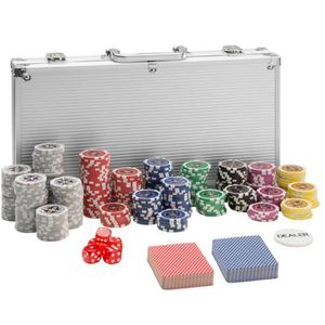 MALETTE POKER TECTAKE Coffret, Malette, Set de Poker 300 Jetons