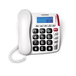 Téléphone fixe Thomson TH-525FBLK, Téléphone analogique, Haut-par