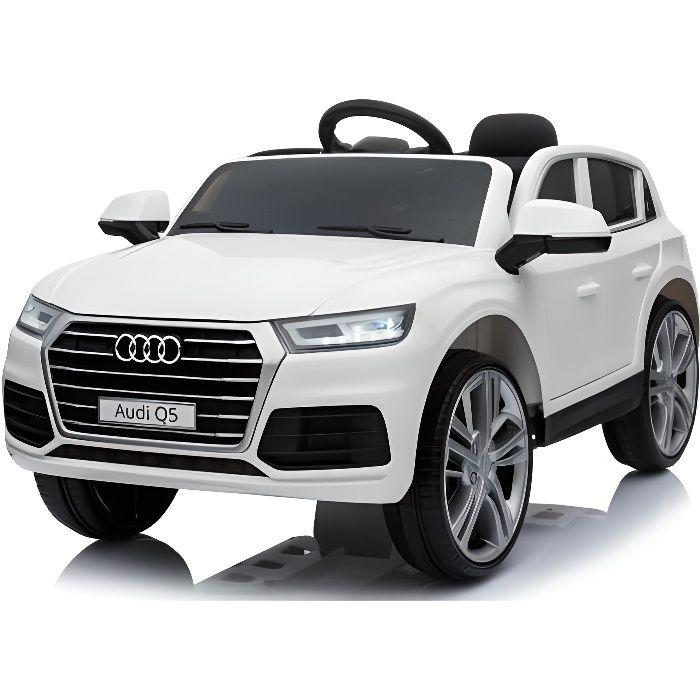 Audi Q5 officielle 12v Blanc - Voiture électrique pour enfant avec batterie 12v et télécommande