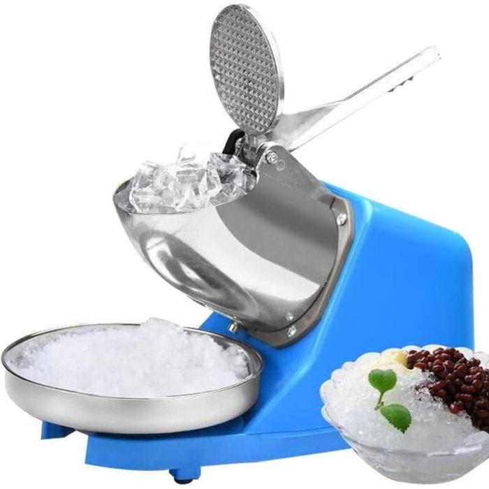 Broyeur à glace / Machine à glace pilée Acier inoxydabl Commercial 300W Ice Maker, BROYEUR A GLACE électrique (Bleu)