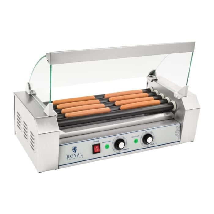 Appareil machine à hot dog professionnelle téflon 10 saucisses 1 000 watts 3614089