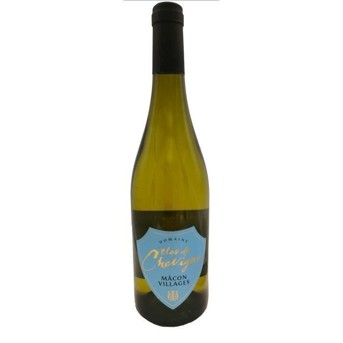 Mâcon Villages 2018 Clos de Chevigne -75 cl - Vin Blanc AOP de Bourgogne - Cépage Chardonnay