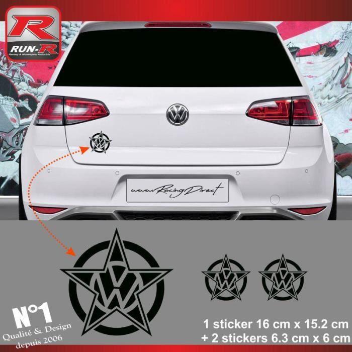 Set of 3 stickers VW pour Golf aukleber - Noir - ADNAuto