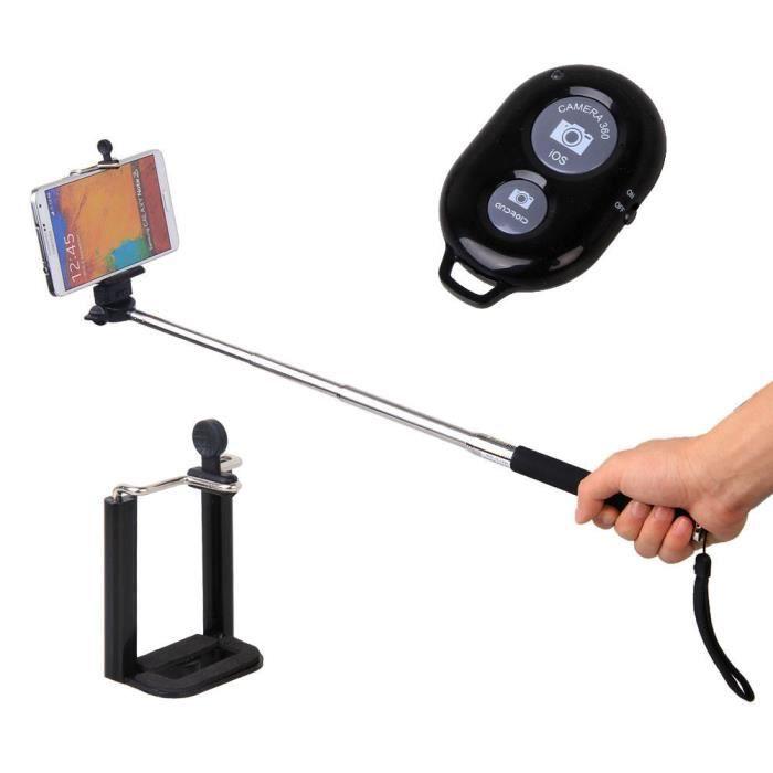 Barre - Bras Selfie Bluetooth avec télécommande