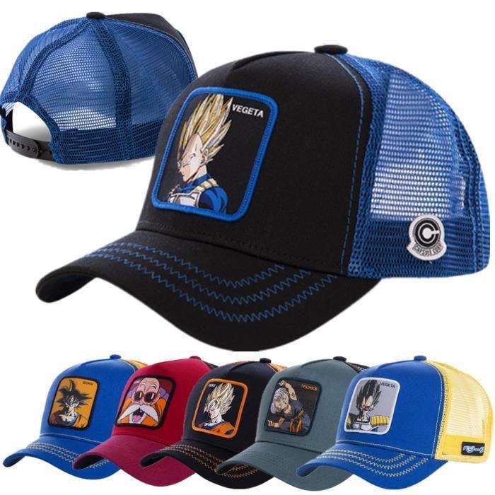 Marque Dragon Ball Z casquettes hommes casquettes femmes multicolore classique chapeau de camionne White GOTEN 54cm-62cm -WGHY6402