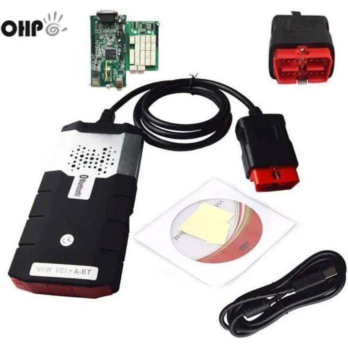 OHP 2018 150e CDP PRO 2015R3 avec Bluetooth DS avec l'outil de diagnostic d'activateur OBD2 Noir