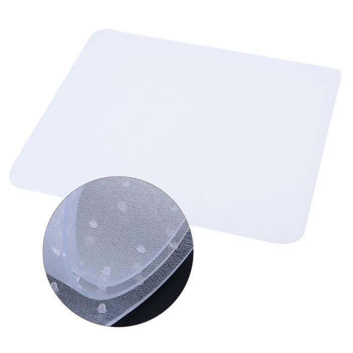 Tapis Tapis de chaise rectangulaire tapis Housse de protection sol transparente Clouté Bas Bureau à domicile HB055