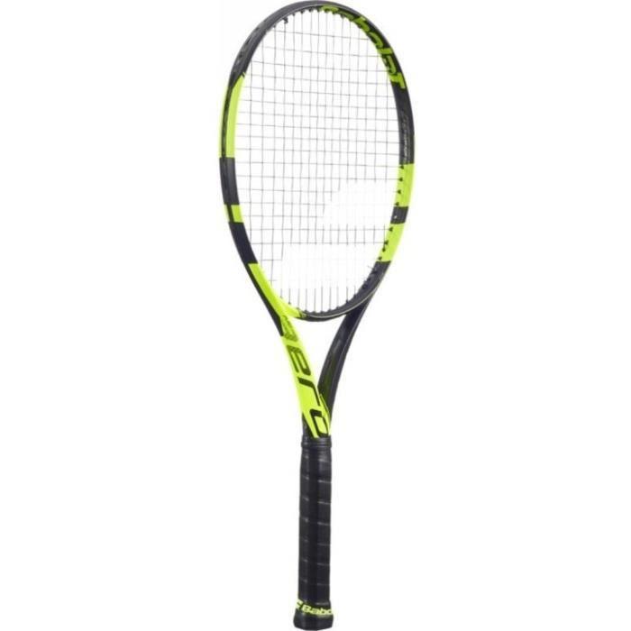 Babolat Pure Aero Unstrung NC raquettes de Tennis, Homme, Homme, Pure Aero Unstrung NC, Noir-jaune