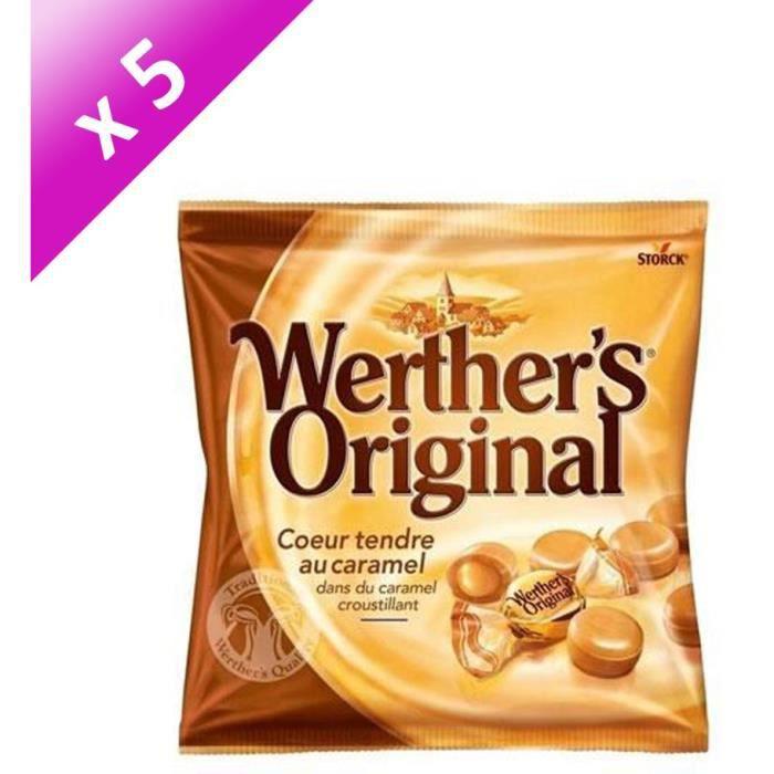 [LOT DE 5] WERTHER'S ORIGINAL Cœur tendre au caramel - 160 g