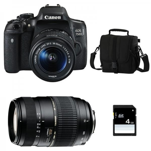 CANON EOS 750D + Objectif EF-S 18-55 mm f/3,5-5,6 IS STM + TAMRON AF 70-300 f/4-5.6 Di