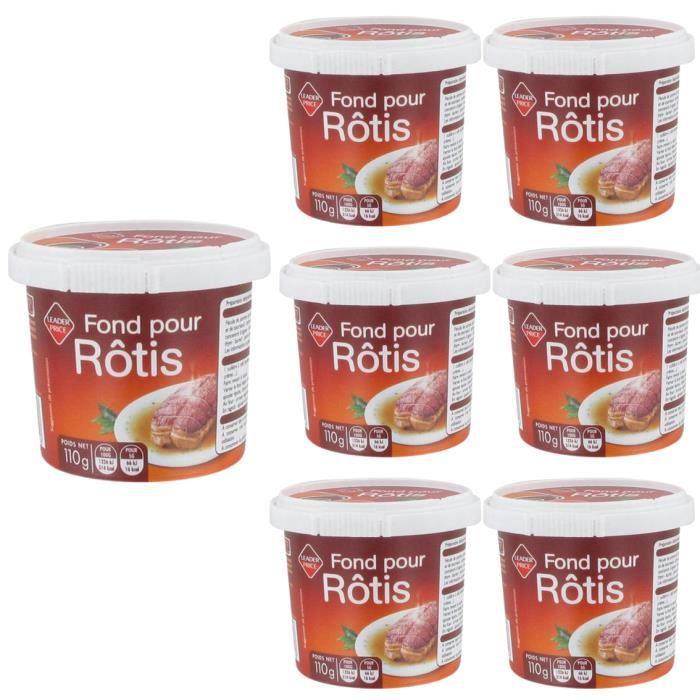 [Lot de 7] Fond pour rôtis - 110g par pot