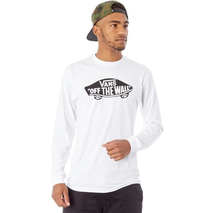Tee shirt à manches longues Vans OTW Blanc-Noir