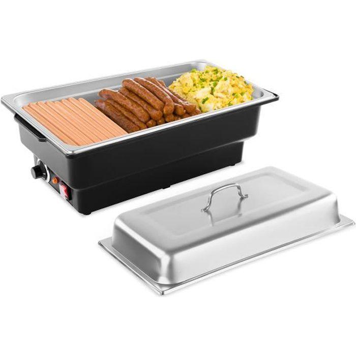 Chauffe-plat électrique Pro Bain-Marie Réchaud pour buffet Incl Récipient GN 1/1 Inox 133L 900W Royal Catering RCCD-1/1-100-KS-E