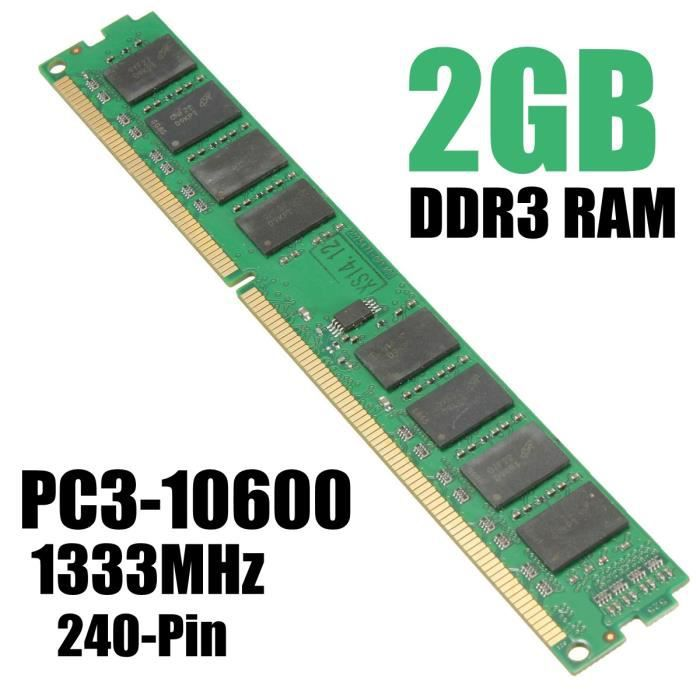 Tempsa 2 G Go Gb Mémoire Ram Ddr3 Pc3 10600 1333Mhz Desktop 240 Pin 1.5V Pc Multiple System