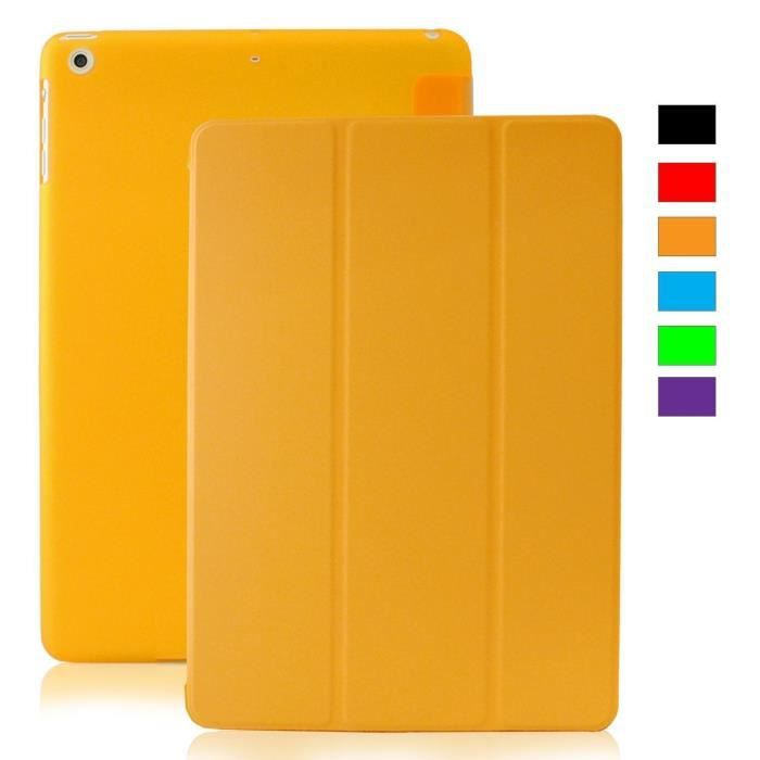 coque ipad mini 1 2 3 retina khomo clair orange prix pas cher cdiscount. Black Bedroom Furniture Sets. Home Design Ideas