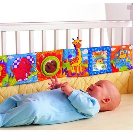 Lot de 8 Livres d/éveil B/éb/é Tissu Livres en chiffon de jouets doux pour enfants Bambin B/éb/é