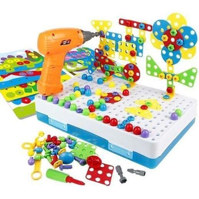 Mosaique Enfant Puzzle 3d Jeux Montessori Educatif Jeu Construction Jouet Enfant Garcon Fille 3 4 Ans 224pcs Cdiscount Jeux Jouets
