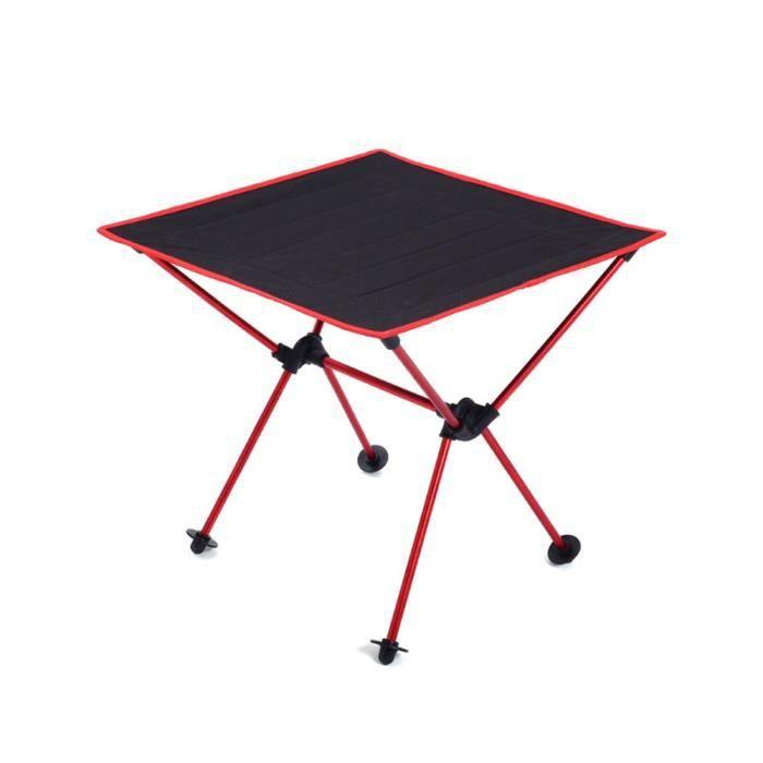 plage Table pliante de camping en plein air Table pliable en alliage daluminium ultral/éger pour lext/érieur en plein air pour pique-nique randonn/ée voyage p/êche Table de camping portable camp