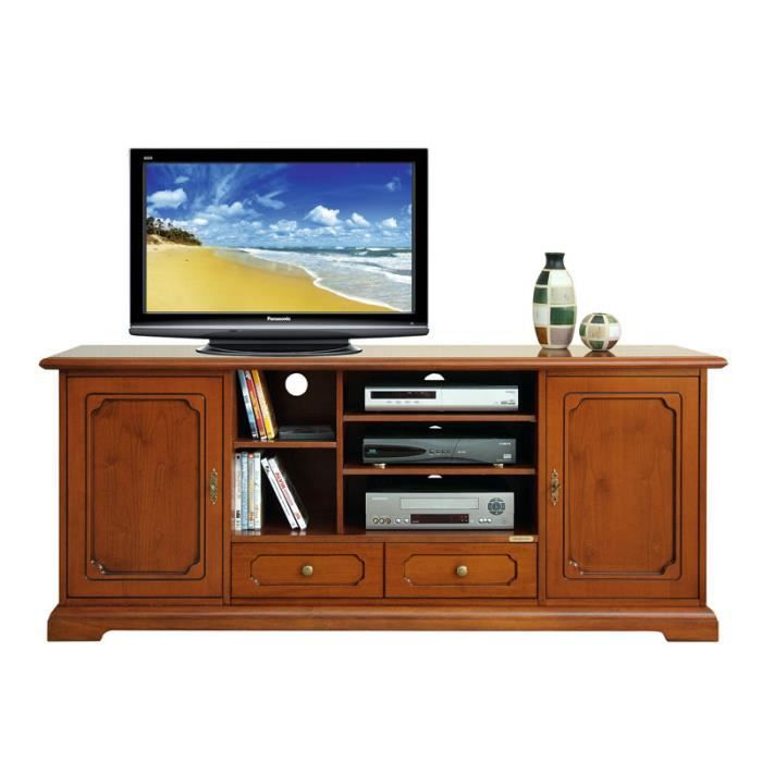 meuble tv hi fi en bois 160 cm largeur achat vente. Black Bedroom Furniture Sets. Home Design Ideas
