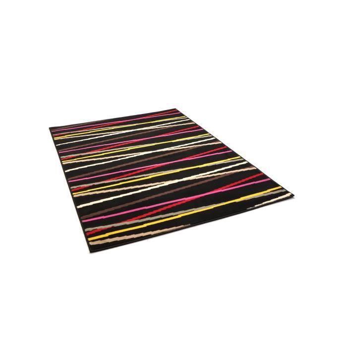 benuta tapis stripes swing noir 60x110 cm achat vente tapis cdiscount. Black Bedroom Furniture Sets. Home Design Ideas