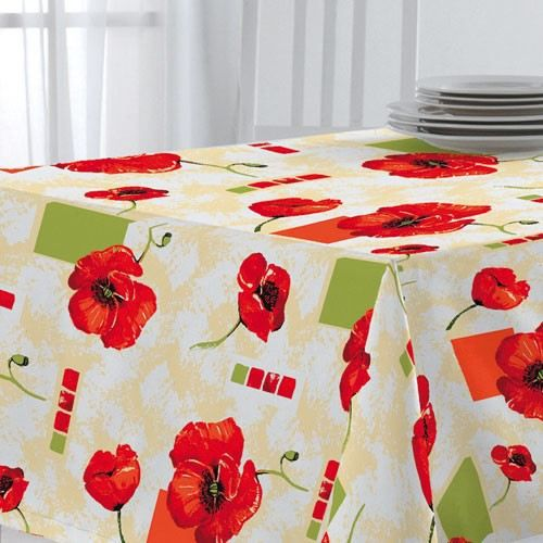nappe ovale match 140x220 cm coquelicot achat vente nappe de table cdiscount. Black Bedroom Furniture Sets. Home Design Ideas