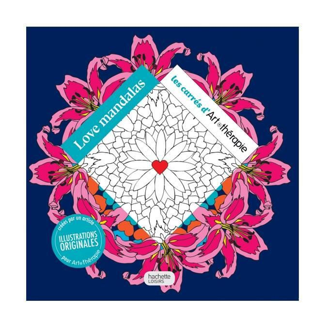 Love Mandalas Les Carres A Colorier Art Therapie Achat Vente