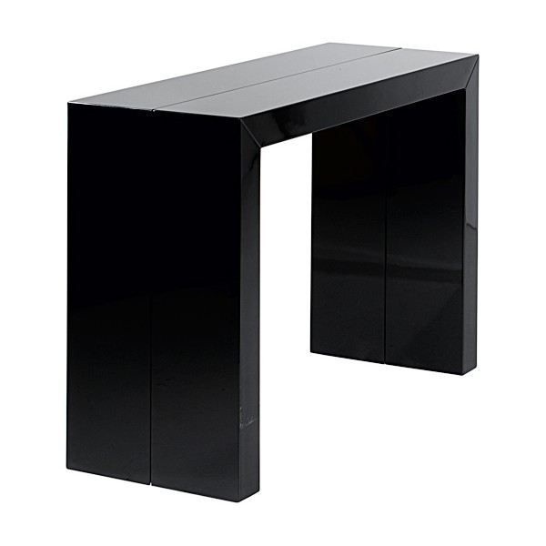 table console extensible orianne noir achat vente. Black Bedroom Furniture Sets. Home Design Ideas