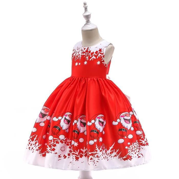 Robe De Soiree Noel Fille Enfant De Costume De Princesse Robe Rouge Dentelle Noel Costumes 02 Rouge Achat Vente Robe Cdiscount