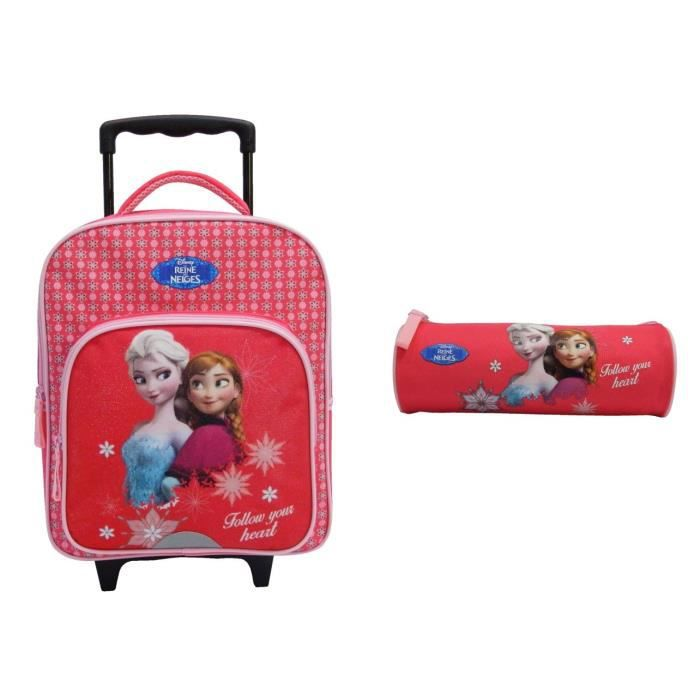 reine des neiges lot sac a dos a roulettes trousse 1 compartiment primaire fille 35 cm achat. Black Bedroom Furniture Sets. Home Design Ideas