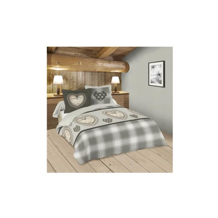 housse de couette flanelle milwaukee 2 pers achat. Black Bedroom Furniture Sets. Home Design Ideas