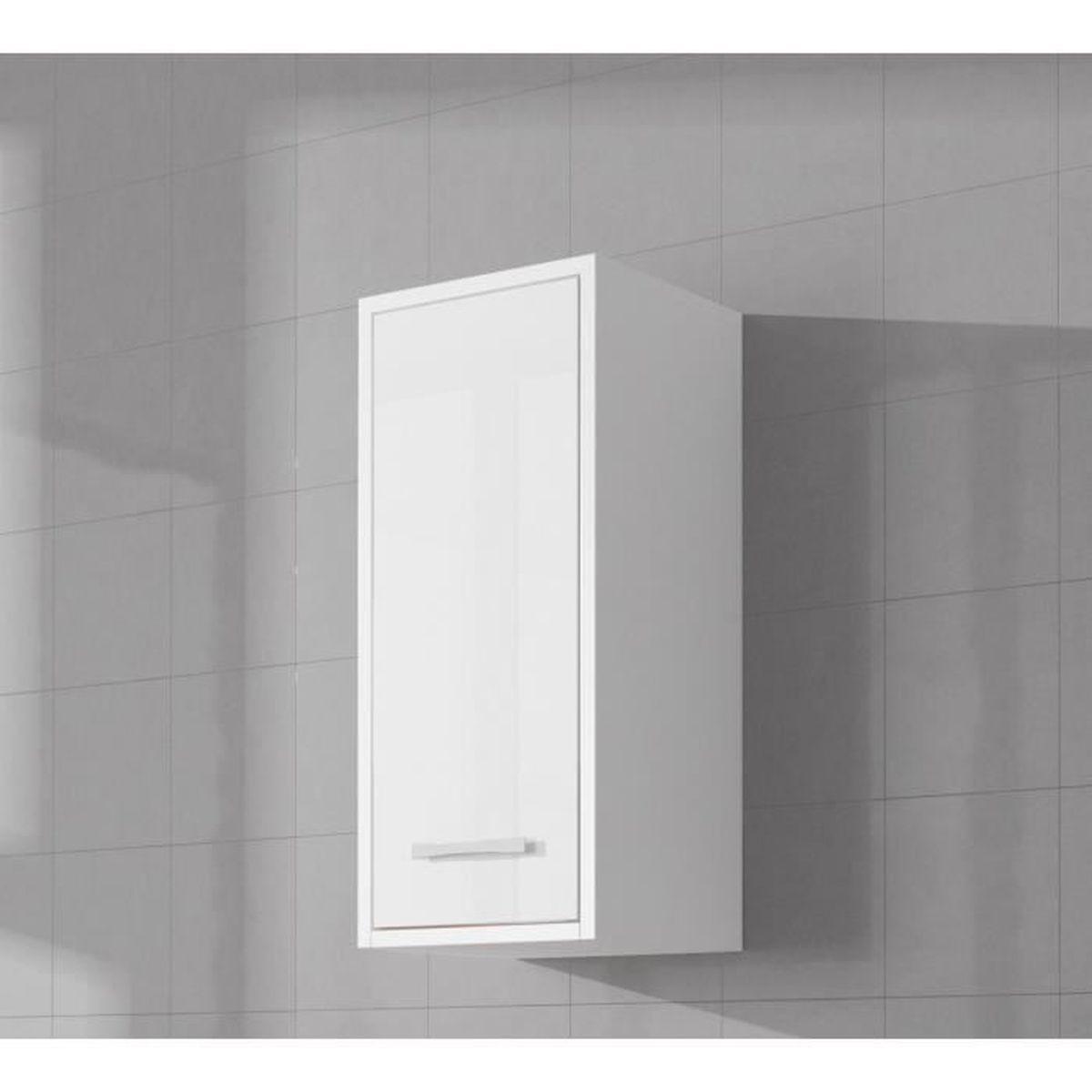 Hauteur Armoire De Toilette armoire de rangement de nemo hauteur : 72 cm blanc brillant