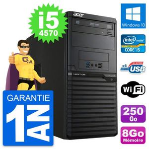 ORDI BUREAU RECONDITIONNÉ PC Tour Acer Veriton M2631 Intel i5-4570 RAM 8Go D