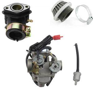 GOOFIT 42mm Filtre /à air et moto PD24J 24mm Carburateur collecteur dadmission GY6 125 CC 150CC Go Kart cyclomotoristes