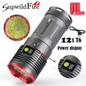 LAMPE DE POCHE Supwildfire 36000LM 12 x XM-L T6 LED Puissance Aff
