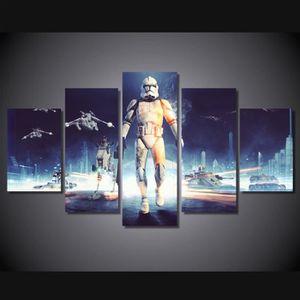 TABLEAU - TOILE Toile tableaux imprimés 5 pièces Star Wars film im