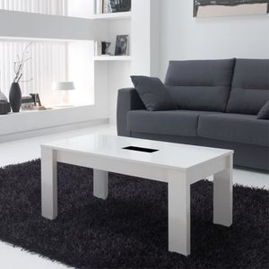 TABLE BASSE Table basse blanche relevable - MYSIA  - Taille :
