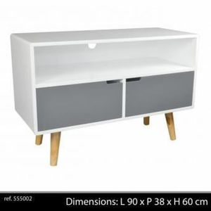 meuble tv vintage achat vente meuble tv vintage pas cher soldes cdiscount. Black Bedroom Furniture Sets. Home Design Ideas
