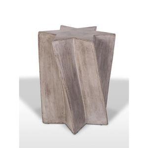 TABLE D'APPOINT Sellette décorative en béton au design étoile - bo
