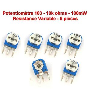5Pcs//set 10K Ohm 15 mm Terminal Transition linéaire Rotary Résistance potentiomètres et boutons