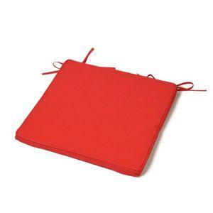 COUSSIN DE CHAISE  Galette de chaise de Jardin UNI 40X40X3 cm Rouge