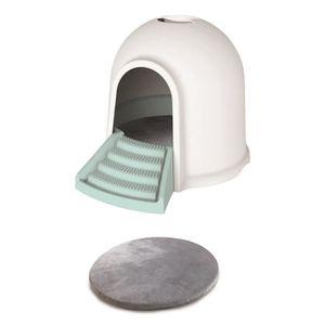 MAISON DE TOILETTE M-PETS Maison de toilette Igloo 2en1 - 45,7x59,7x4